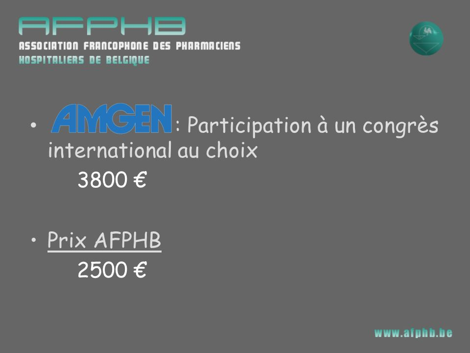 : Participation à un congrès international au choix