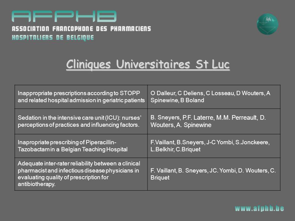 Cliniques Universitaires St Luc