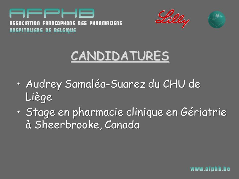 CANDIDATURES Audrey Samaléa-Suarez du CHU de Liège