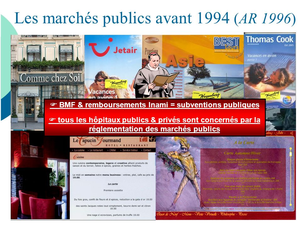 Les marchés publics avant 1994 (AR 1996)