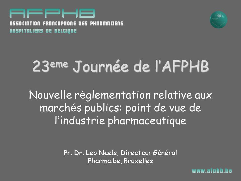 Pr. Dr. Leo Neels, Directeur Général Pharma.be, Bruxelles