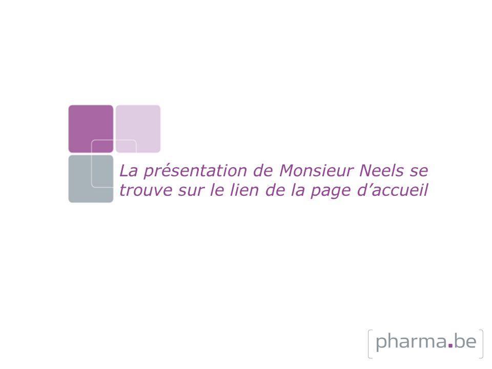La présentation de Monsieur Neels se trouve sur le lien de la page d'accueil
