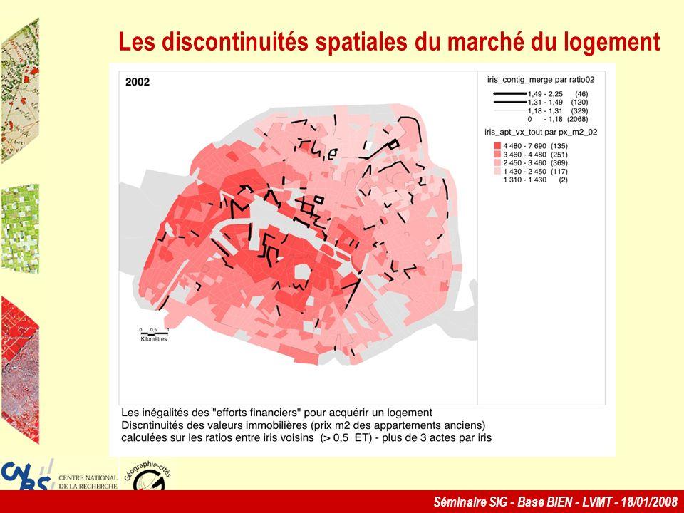 Les discontinuités spatiales du marché du logement