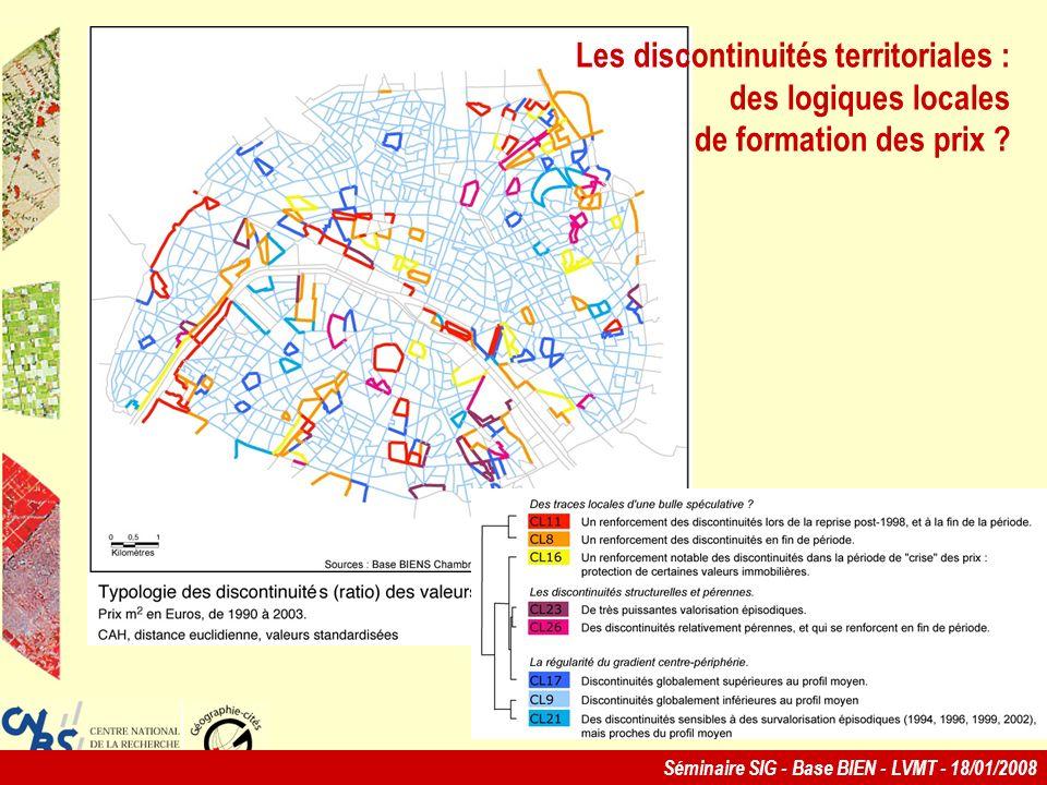 Les discontinuités territoriales : des logiques locales de formation des prix