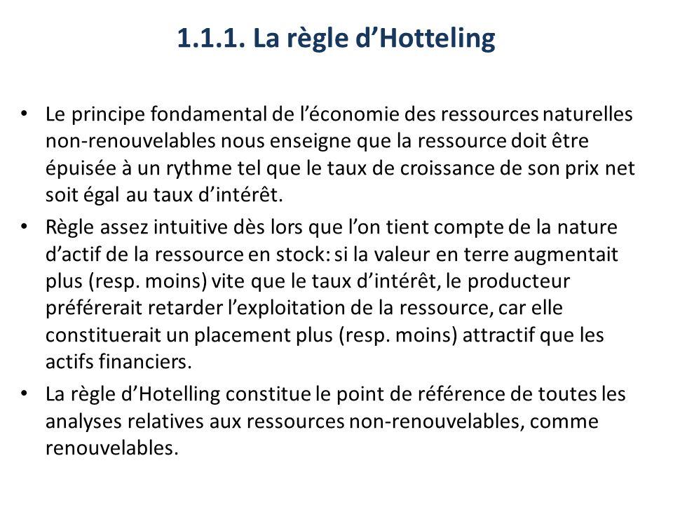 1.1.1. La règle d'Hotteling