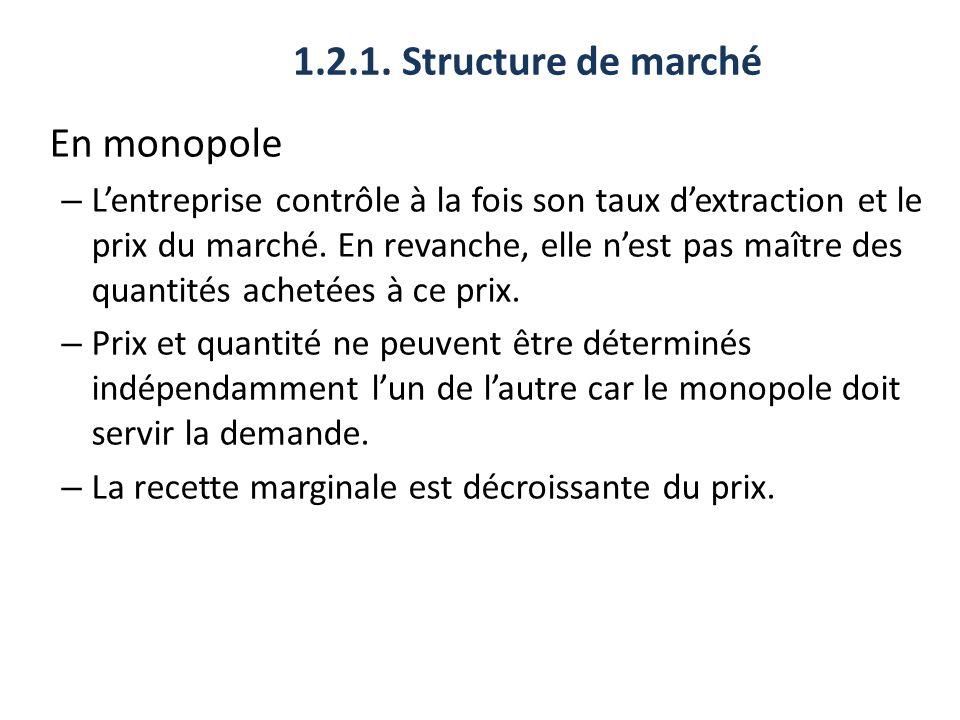 1.2.1. Structure de marché En monopole