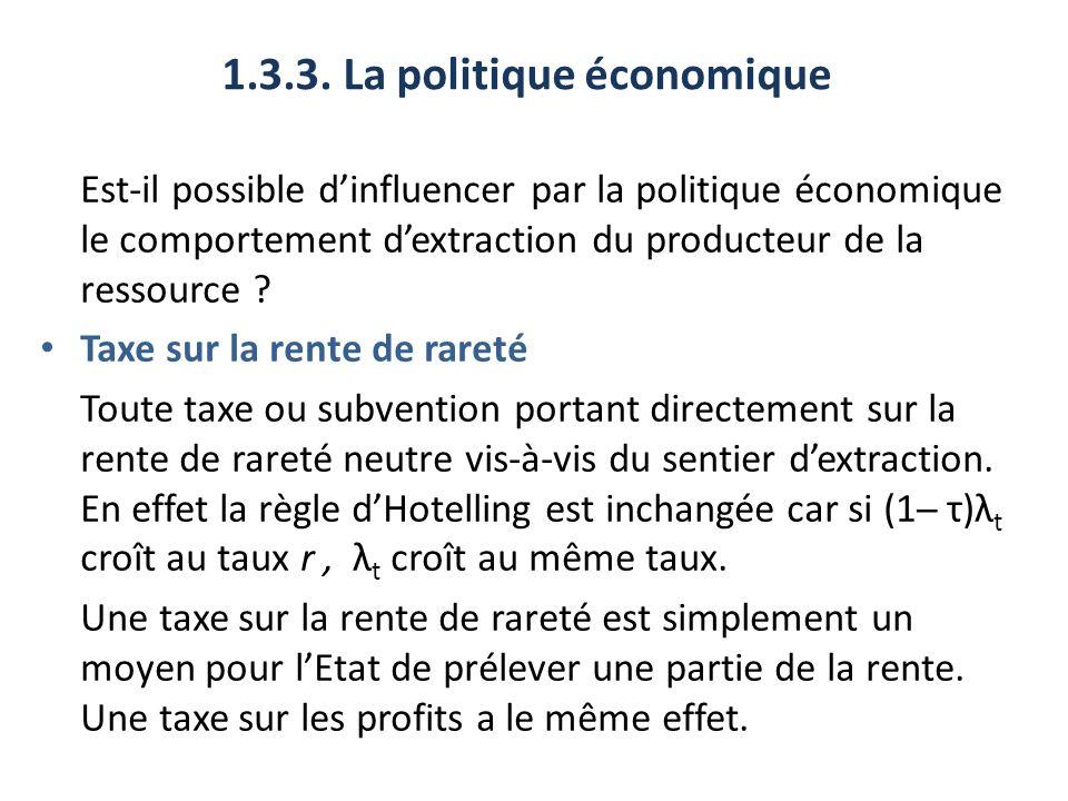 1.3.3. La politique économique