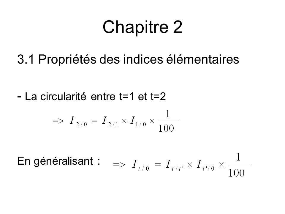 Chapitre 2 3.1 Propriétés des indices élémentaires