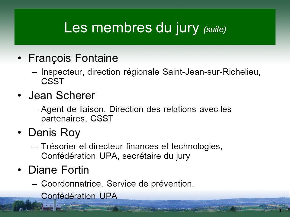 Les membres du jury (suite)