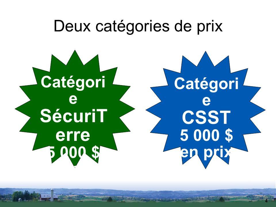Deux catégories de prix