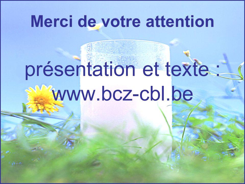 Merci de votre attention présentation et texte : www.bcz-cbl.be