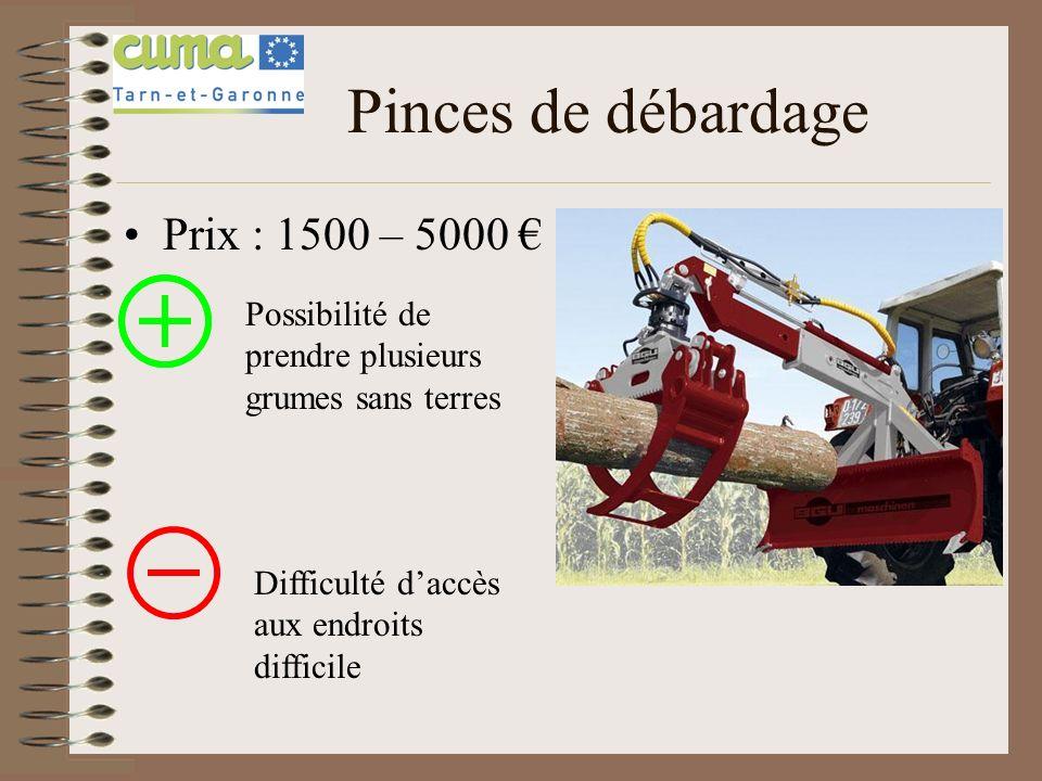 Pinces de débardage Prix : 1500 – 5000 €