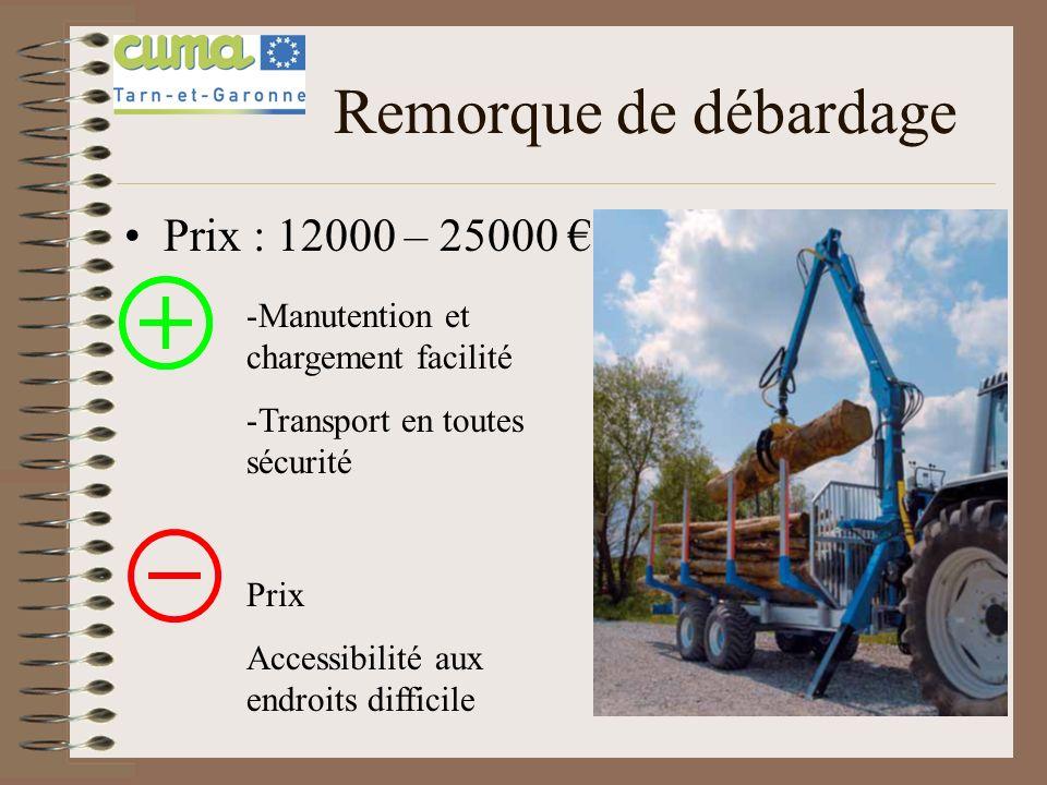 Remorque de débardage Prix : 12000 – 25000 €