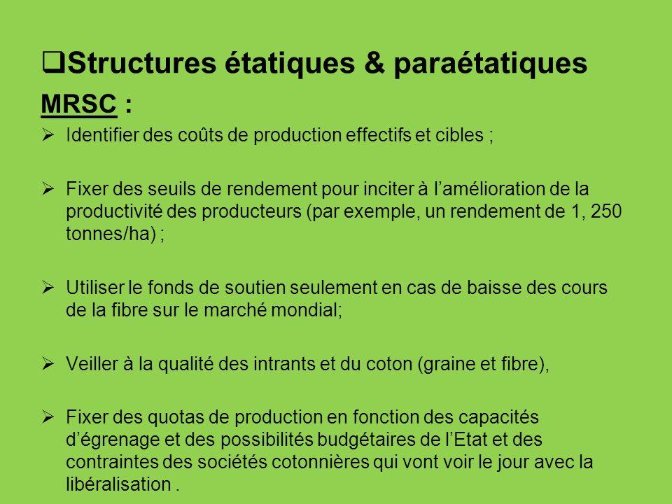 Structures étatiques & paraétatiques