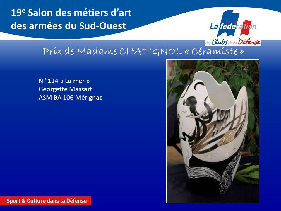 Prix de Madame CHATIGNOL « Céramiste »