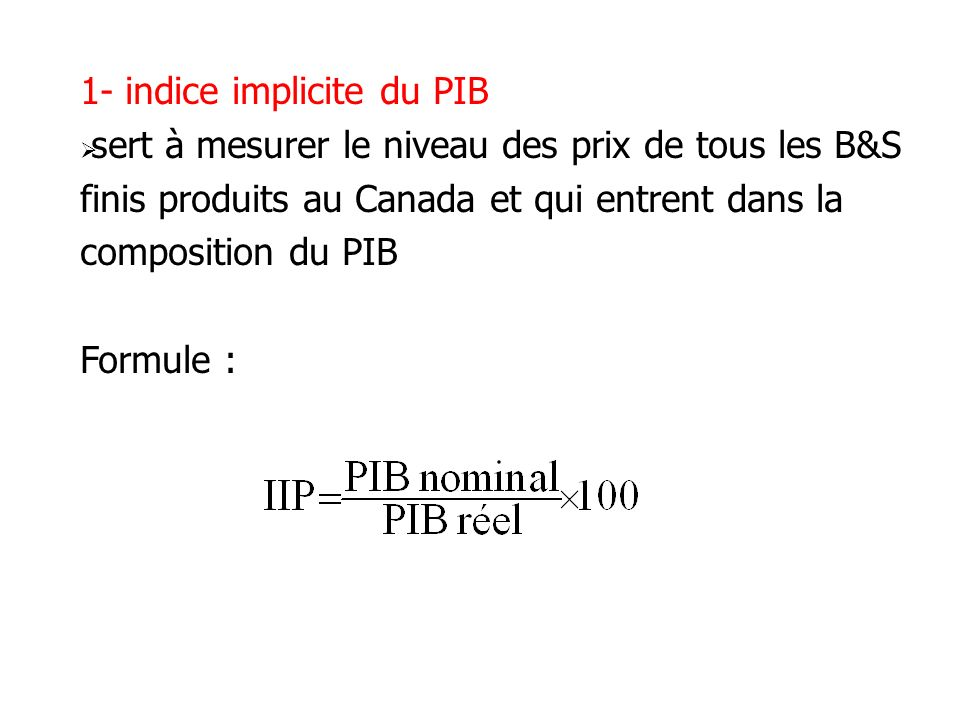 1- indice implicite du PIB