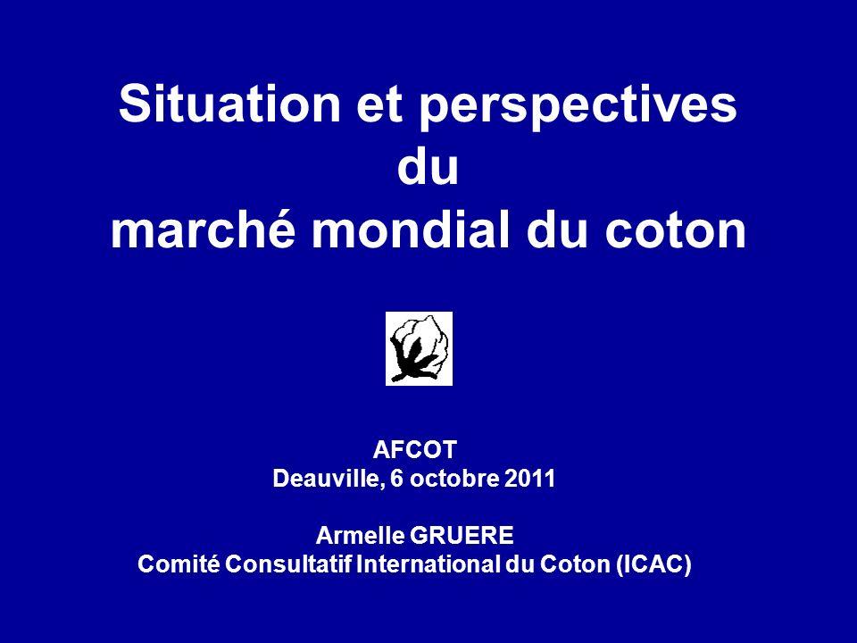 Situation et perspectives du marché mondial du coton