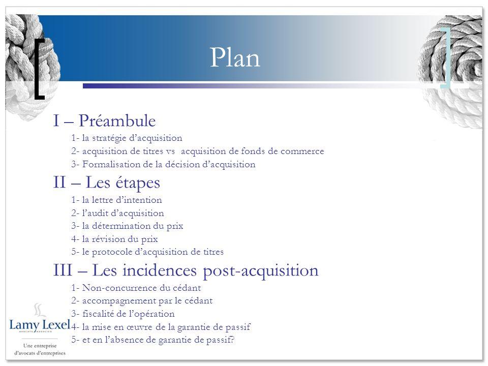 Plan I – Préambule II – Les étapes