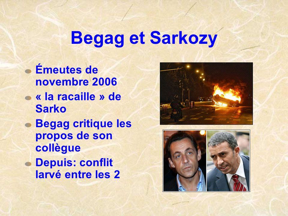 Begag et Sarkozy Émeutes de novembre 2006 « la racaille » de Sarko
