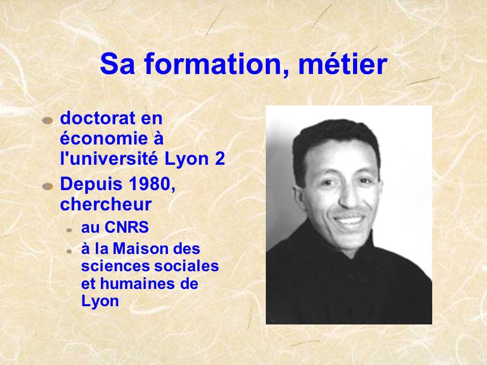 Sa formation, métier doctorat en économie à l université Lyon 2