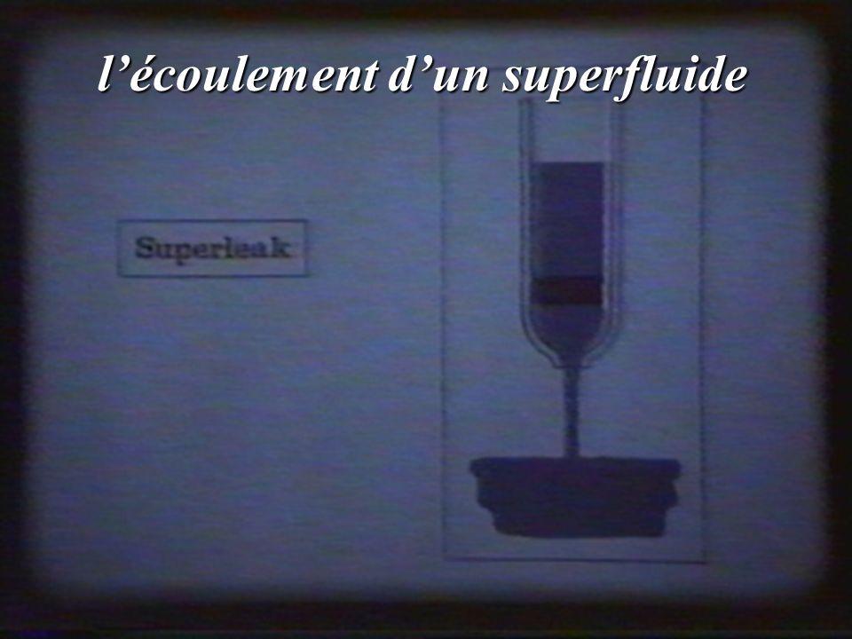 l'écoulement d'un superfluide