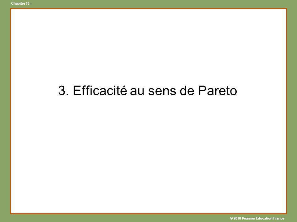3. Efficacité au sens de Pareto