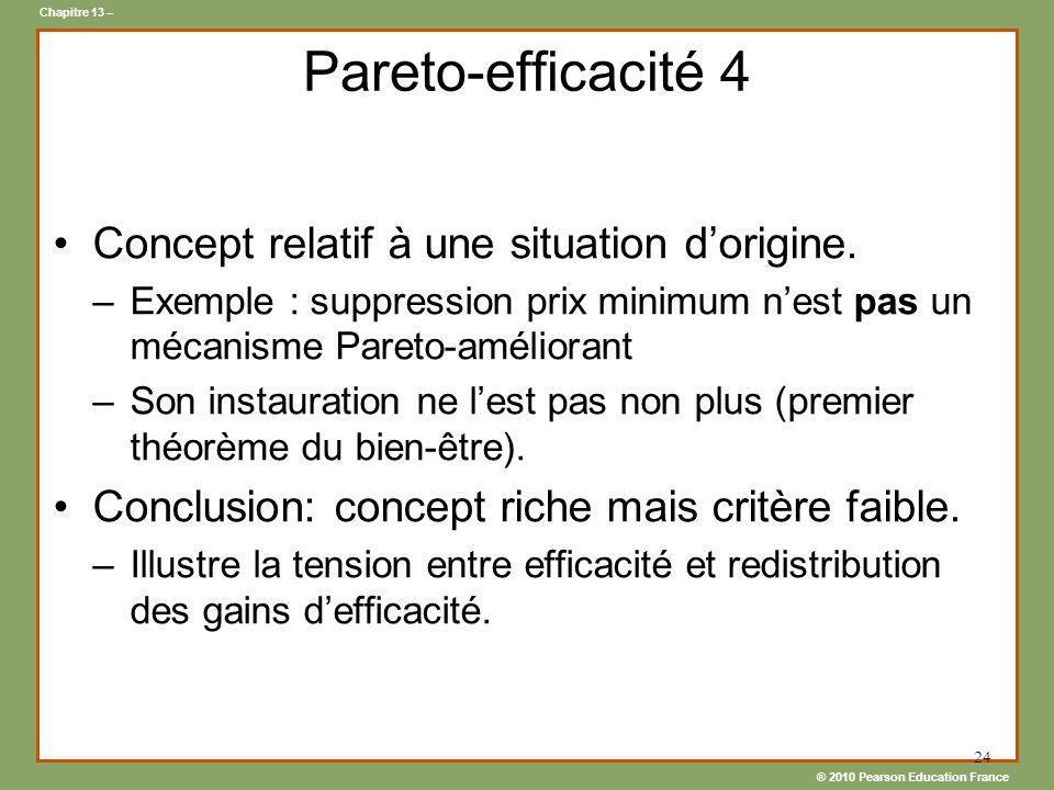 Pareto-efficacité 4 Concept relatif à une situation d'origine.