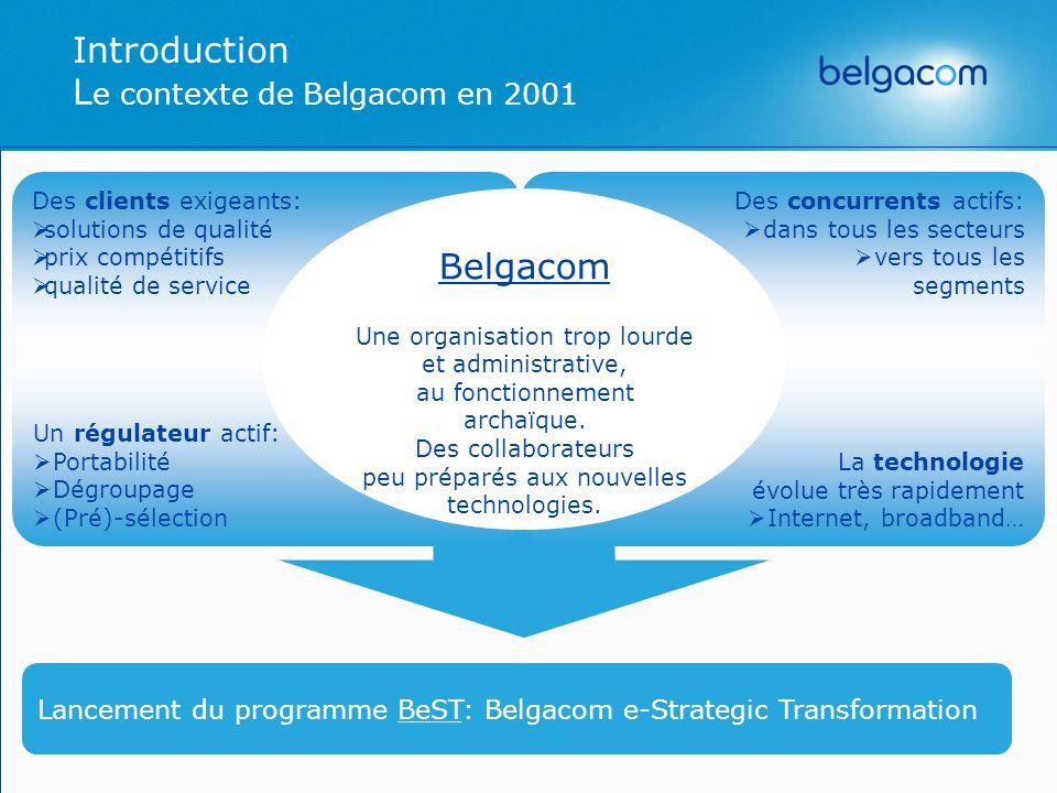Introduction Le contexte de Belgacom en 2001