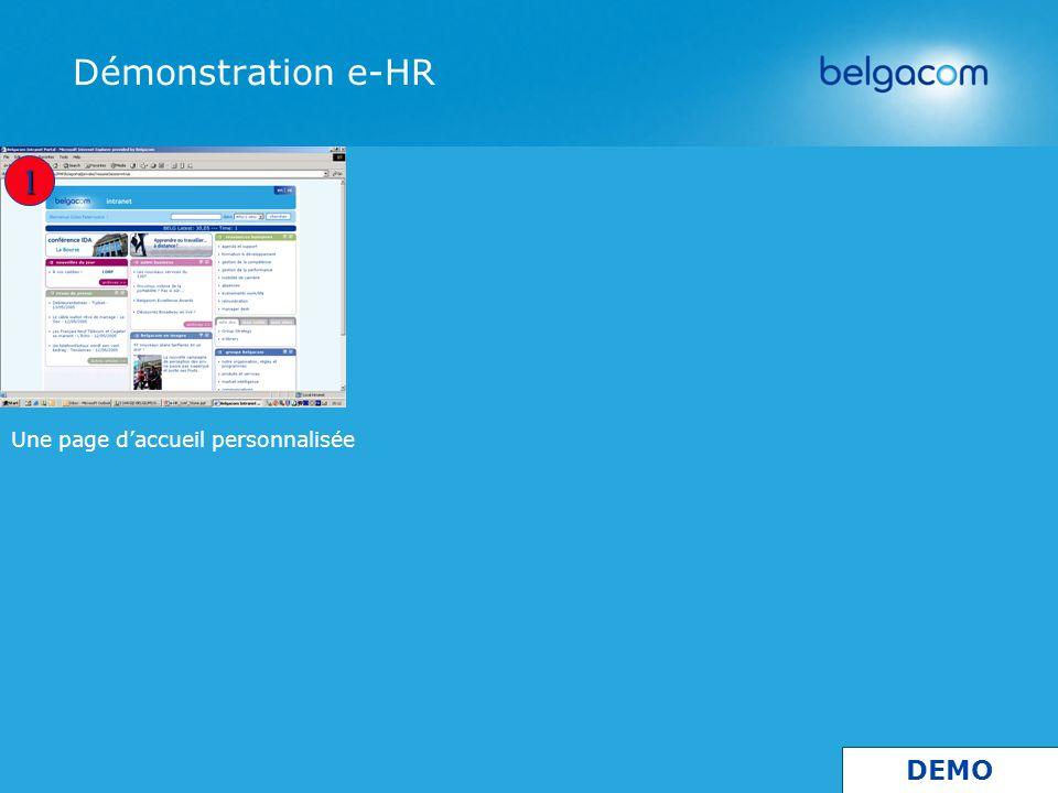 Démonstration e-HR 1 DEMO