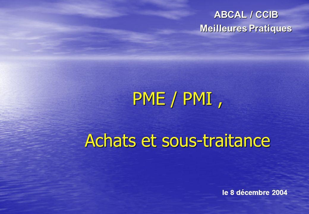 PME / PMI , Achats et sous-traitance