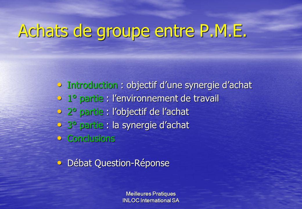 Achats de groupe entre P.M.E.