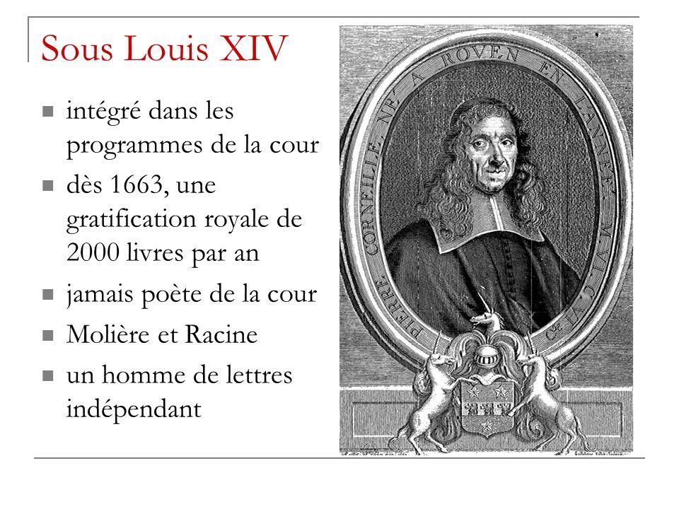 Sous Louis XIV intégré dans les programmes de la cour