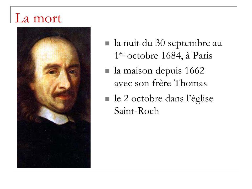 La mort la nuit du 30 septembre au 1er octobre 1684, à Paris