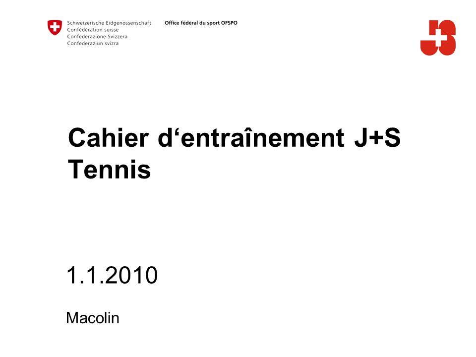 Cahier d'entraînement J+S Tennis