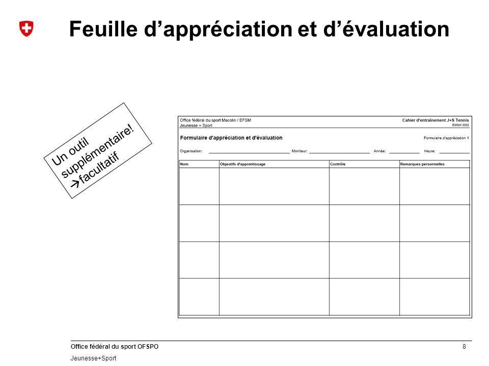 Feuille d'appréciation et d'évaluation