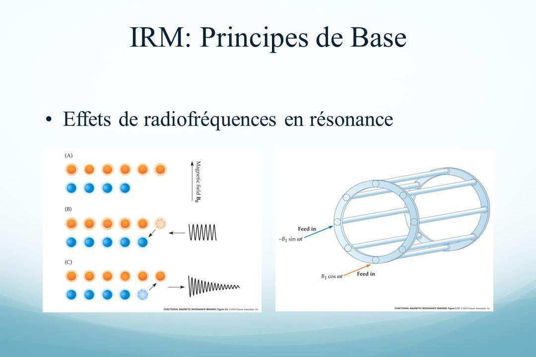IRM: Principes de Base Effets de radiofréquences en résonance