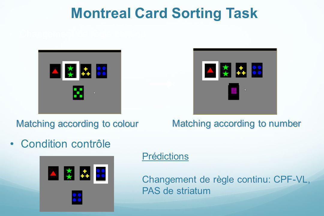 Montreal Card Sorting Task