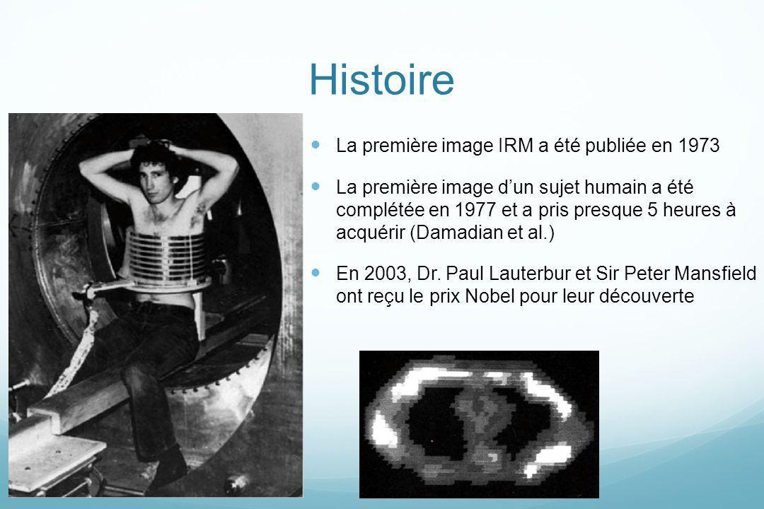 Histoire La première image IRM a été publiée en 1973