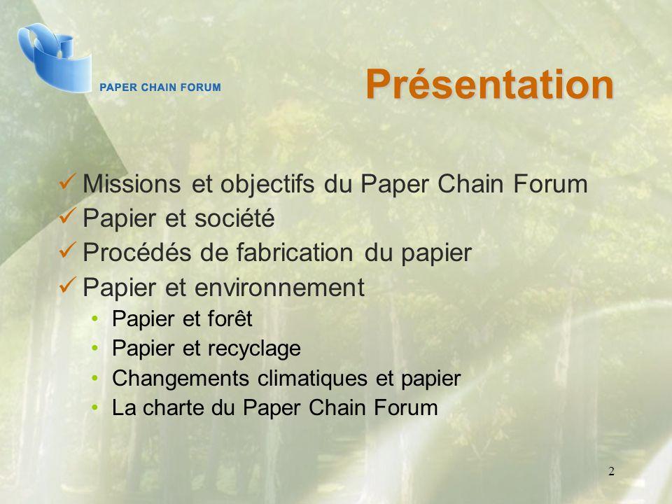 Présentation Missions et objectifs du Paper Chain Forum