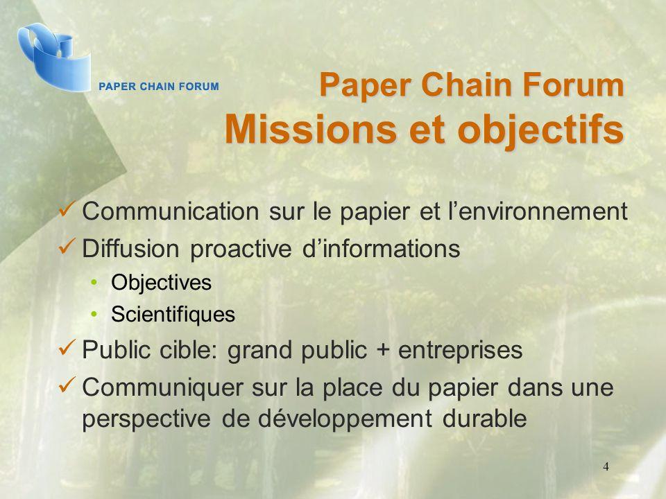 Paper Chain Forum Missions et objectifs