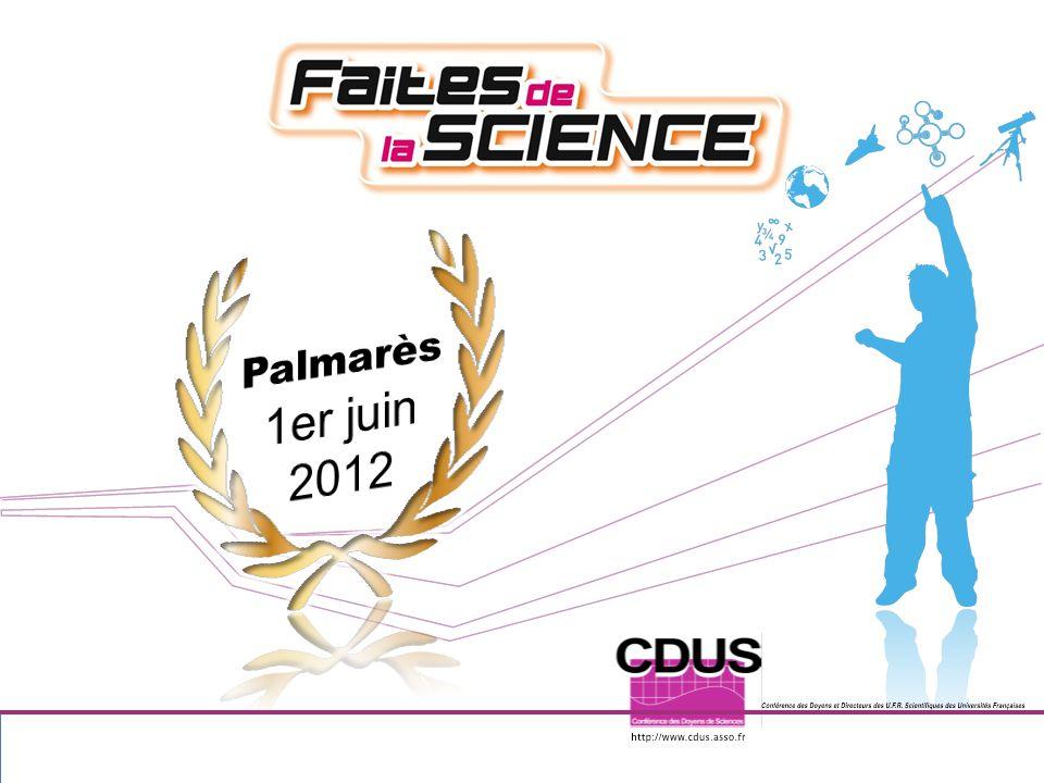 Palmarès 1er juin 2012