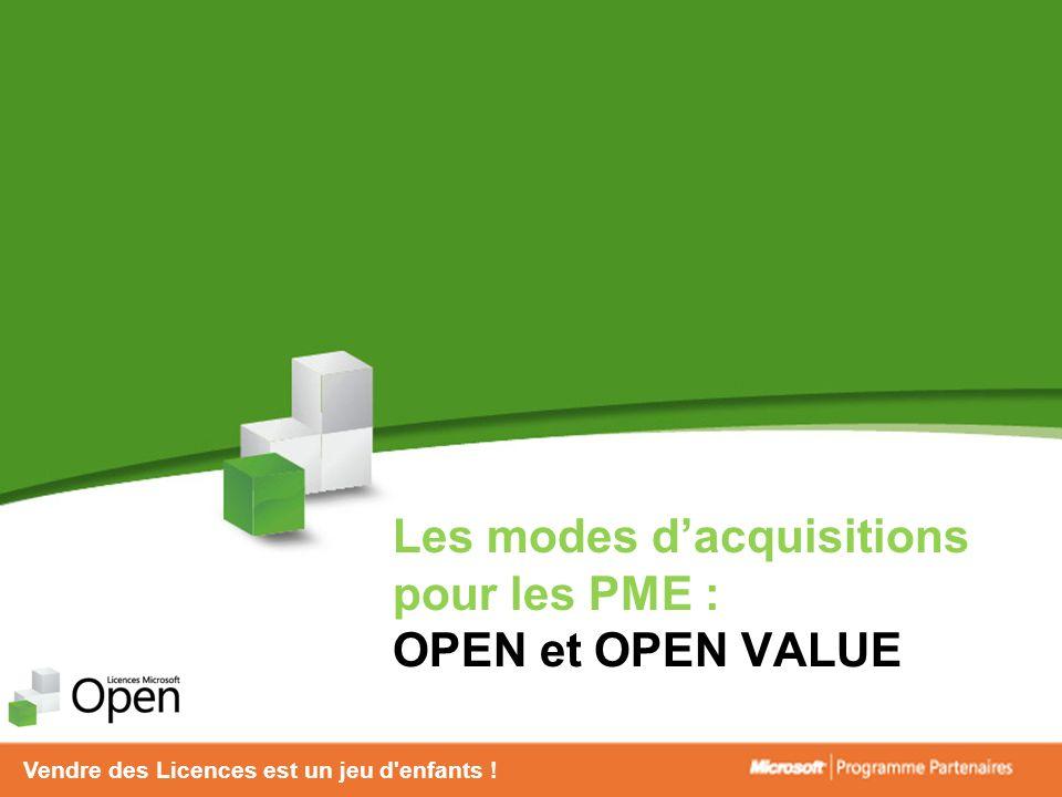 Les modes d'acquisitions pour les PME : OPEN et OPEN VALUE