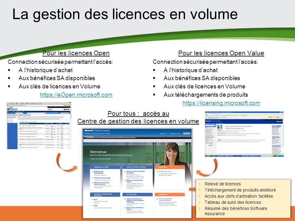 La gestion des licences en volume