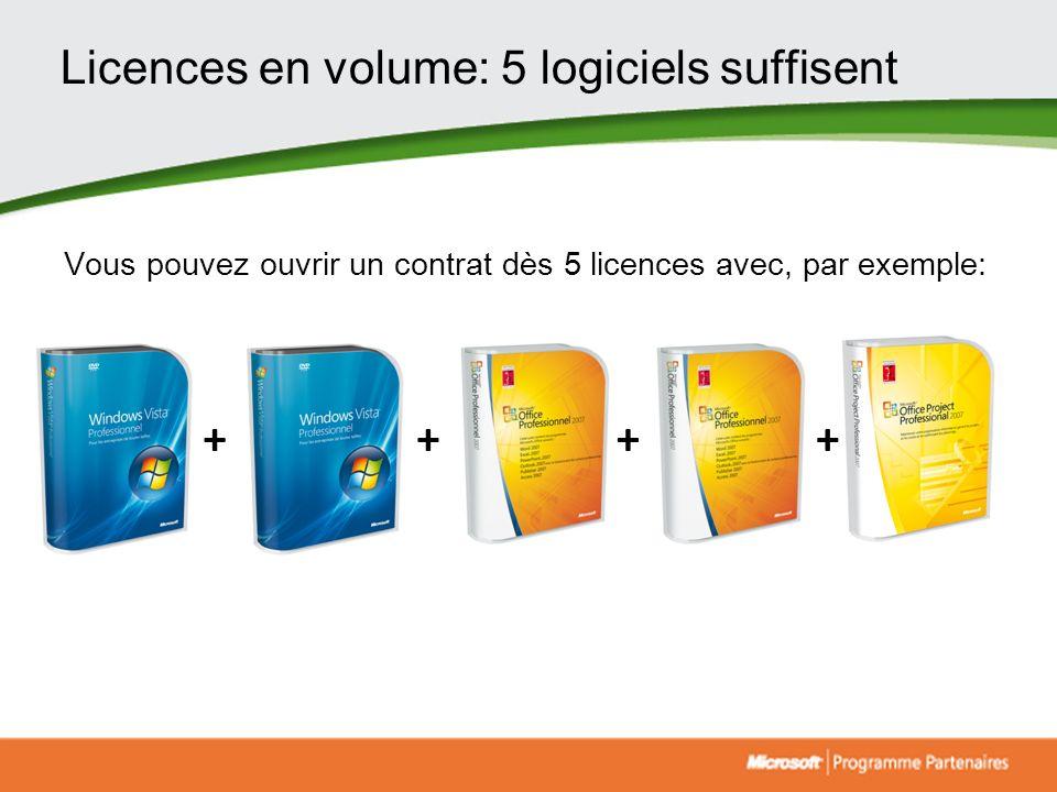 Licences en volume: 5 logiciels suffisent