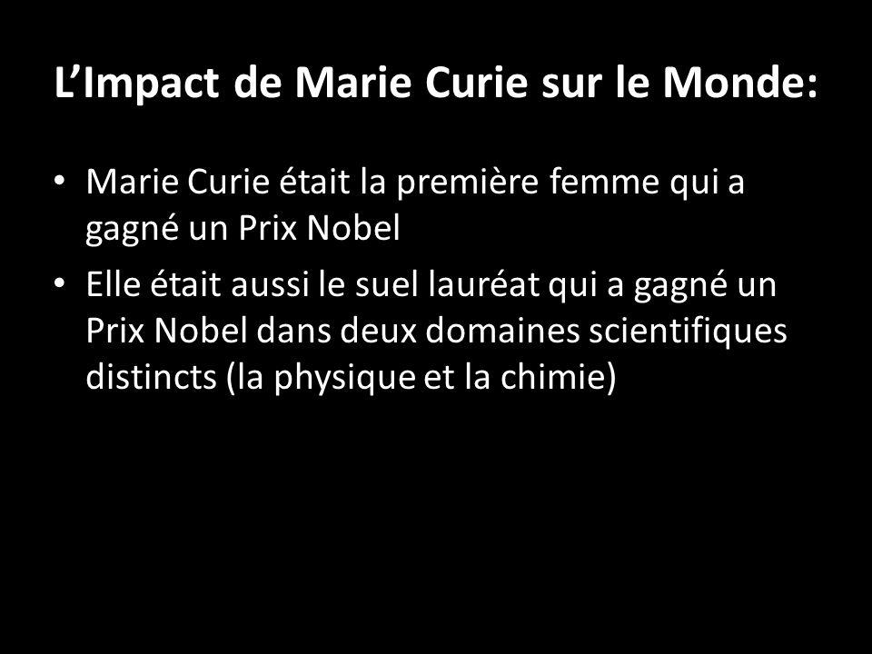 L'Impact de Marie Curie sur le Monde: