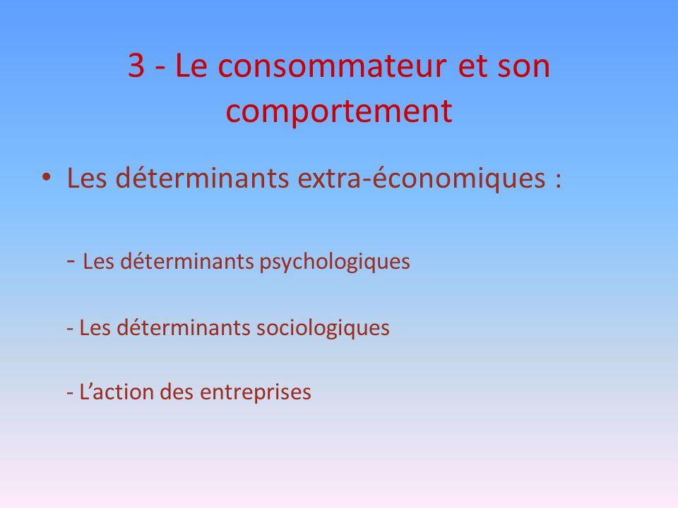 3 - Le consommateur et son comportement