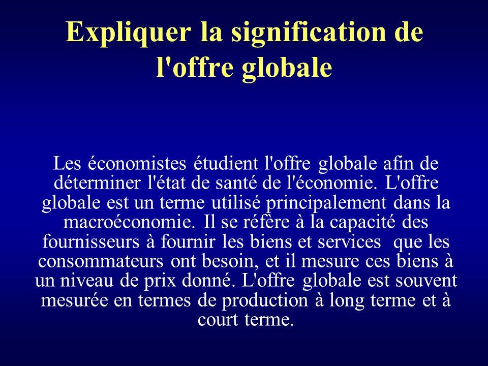 Expliquer la signification de l offre globale