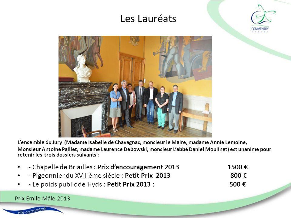 Les Lauréats L'ensemble du Jury (Madame Isabelle de Chavagnac, monsieur le Maire, madame Annie Lemoine,