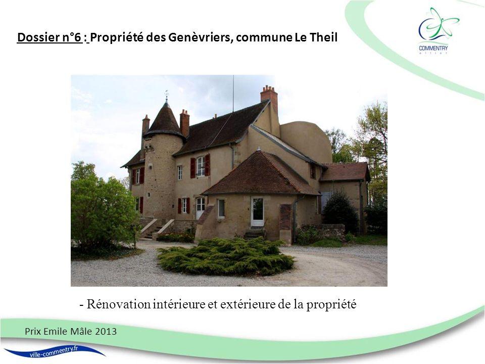 Dossier n°6 : Propriété des Genèvriers, commune Le Theil