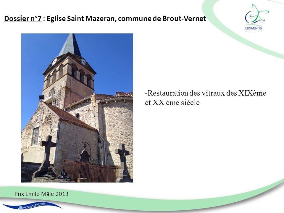 Dossier n°7 : Eglise Saint Mazeran, commune de Brout-Vernet
